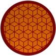 rug #999965 | round orange borders rug