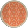 rug #999973 | round beige borders rug