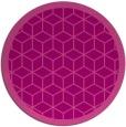 rug #999981   round pink borders rug