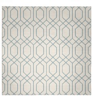 Rug Fw191217 Square Blue Green Check